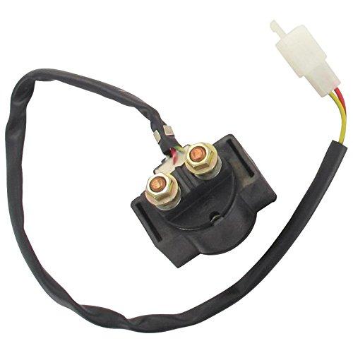 Xfight-Parts Starterrelais mit Kabel 2+2-polig 12V 150A 2Takt 50ccm YY50QT-28 Zhongneng / ZNEN ZN50QT-11C