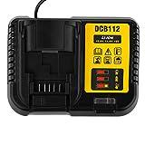 DCB112 - Cargador de repuesto para De-walt DCB120 DCB140 DCB141-XJ DCB182 DCB183 DCB200 DCB204 De-WALT DCB200 DCB200 (3 A, para De-WALT) Dispositivo