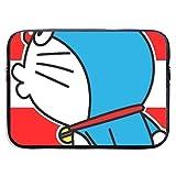 ラップトップスリーブドラえもん耐衝撃コンピュータバッグ防水ラップトップケースバッグ保護ノートブックバッグケースノートブックタブレットパッド15インチ