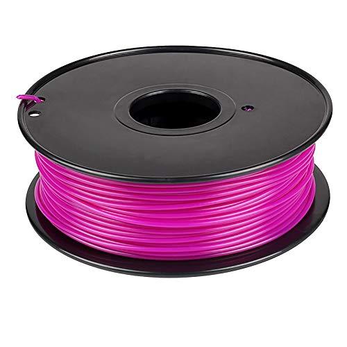 Macabolo Stampante 3D 1 kg 1,75 mm filamento PLA materiali di stampa colorati per stampante 3D estrusore penna arcobaleno plastica accessori, Viola, 1