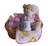 Cesta de regalo para baby shower Bebé niña