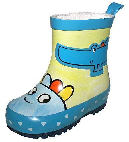 maximo Jungen Gummistiefel/Regenstiefel Krokodil 83203 8475 in Mehrfarbig, Kleidergröße:27, Farbe:Mehrfarbig