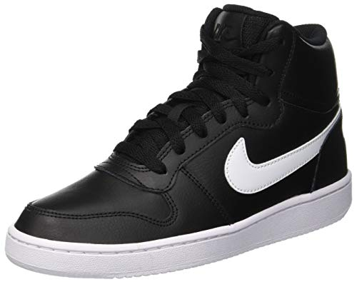 Nike Ebernon Mid, Zapatillas Altas Mujer, Negro (Black/White 001), 37.5 EU