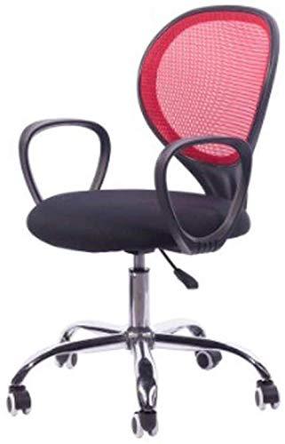 Computerstoel Bureaustoel met ronde rug Eenvoudige staf Computerzetel Home Mesh Lifting Chair Bureaustoel met rugleuning (kleur: zwart)