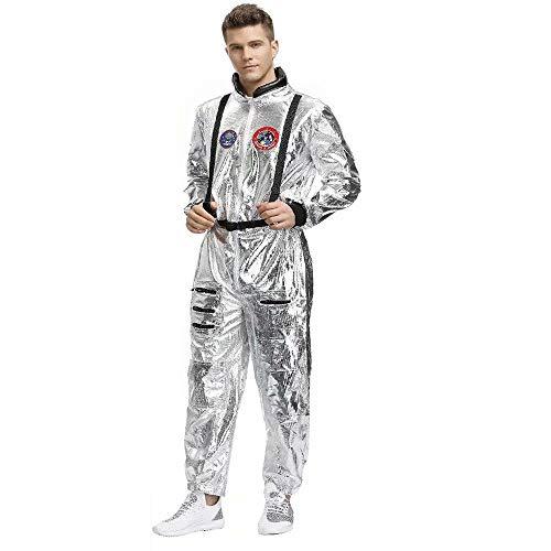 Unisex Halloween Adulti Cosplay Astronauti Costumi Coppia Vagabondare Terra Tute Spaziali Festa collettiva Fantascienza Elemento Stile Cosplay Onsies