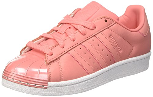 adidas Damen Superstar Metal Toe Sneakers, Pink (Tactile Rose/Tactile Rose/Footwear White), 40 2/3 EU