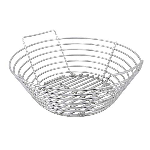 Kick Ash Basket Stainless Steel Charcoal Ash Basket for Big Green Egg Grill - Large