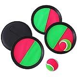 FORMIZON Juego de Bola y Lanzamiento, Juego de Lanzamiento y Captura, 4 paletas y 2 Bolas Atrapa el Juego de Pelota para Deportes, Playa