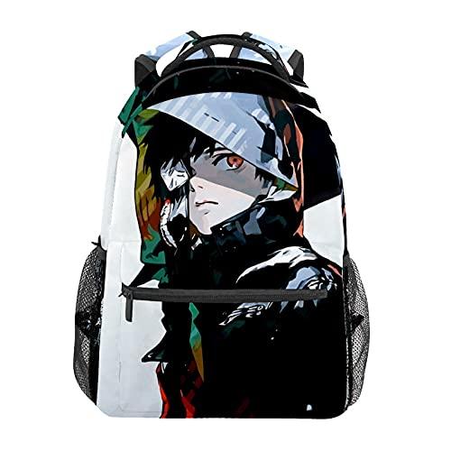 Tokyo GhoulMochila de animación japonesa para portátil bolsa de viaje duradera y resistente al agua para estudiantes; mochila moderna