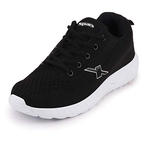 Sparx Women's Black White Running Shoes-5 UK (38 EU) (SX0148L_BKWH0005)