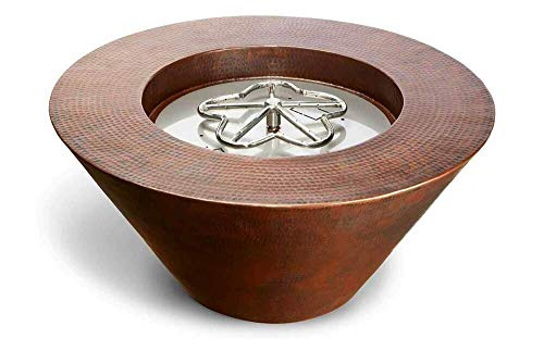 1 Set of Mesa Copper Fire Pit Bowl, Electronic Ignition, Natural Gas, 120VAC, 32'