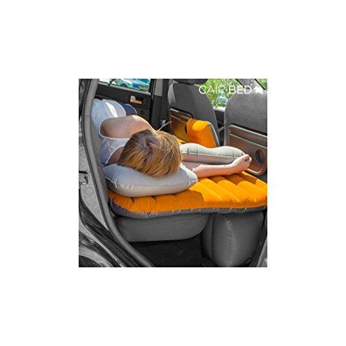 Hasëndad Cair Bed Colchón Hinchable para Coches, Naranja / Gris, Talla Única