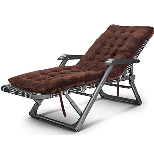 Chaises de camping Chaises longues de jardin Chaise pliante Chaise longue d extérieur pliante, avec coussin de siège Accoudoir de massage, Fauteuil inclinable pour la plage Patio Jardin Camping avec a