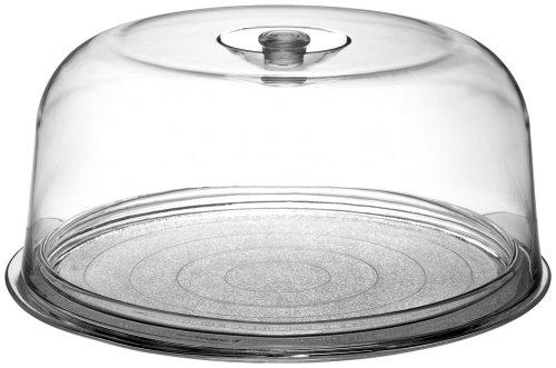 Bormioli Rocco Ginevra - Charola para tartas con cúpula de plástico, en caja de regalo