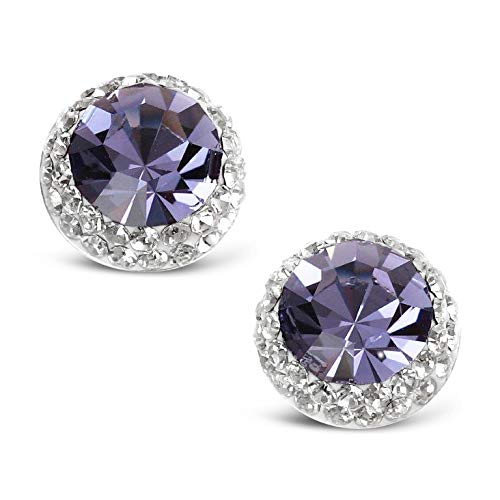 Ashton and Finch Sterling Silver Tanzanite Crystal Earrings | Earrings For Women | Jewellery for Girls and Women | For Birthdays, Weddings And Special Occasions