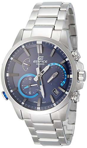 Casio Men's Edifice Quartz Watch with Stainless-Steel Strap, Silver, 20.54 (Model: EQB-700D-2ACF)