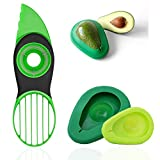Avocado Slicer, 3 in 1 Avocado Cutter Tool with Avocado Saver Keeper, Avocado Pit Remover Multifunctional Avocado Pitter (Set of 3)