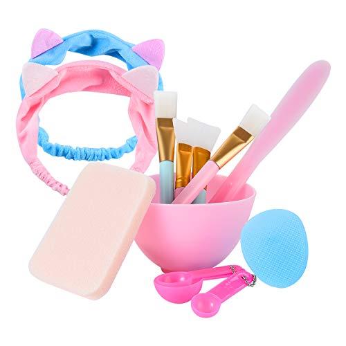 Maskenpinsel, Kozylife Maskenpinsel Silikon mit Haarbänd, Maskenpinsel Gesicht Set Gesichtsmaske Pinsel Kosmetik Make-up Gesicht Bürste für Gesichtsmaske, Augenmaske, Serum oder DIY