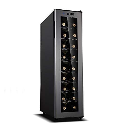 Xiao huang li Wijnkoeler, wijnkoeler, koelkast, wijnopslag, rode of witte wijn, 18 flessen, wijnklimaatregeling, thermostaat, digitaal display