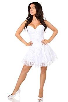 Daisy corsets womens Lavish White Lace Dress Corset White Medium US