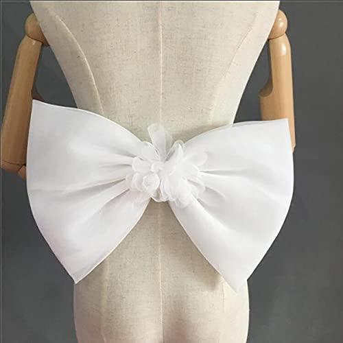 Vestido de novia con lazo de organza separado, nudos, vestidos de novia extraíbles, nudos de flores, color burdeos, talla única