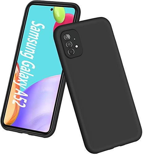 RZANTS Funda para Samsung A52 5G 6.5', Funda Blanda Silicona Líquida Prueba Golpes para Teléfono, Funda Protectora Goma Gel Case Cover para Samsung Galaxy A52 5G 6.5',Negro