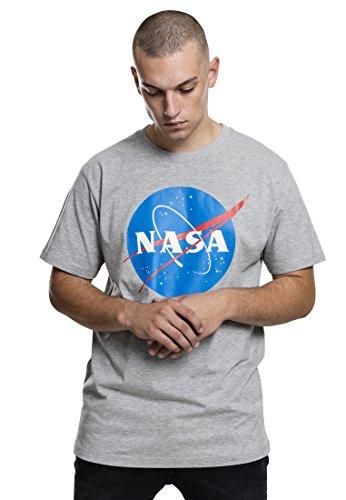 Mister Tee NASA Logo T-Shirt für Herren, Heather Grey, Größe M