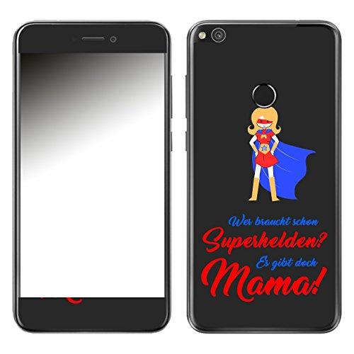 DISAGU SF 107885_ 1004Design Schermo per Huawei P8Lite (2017)–Motivo Super Mamma–Scuro