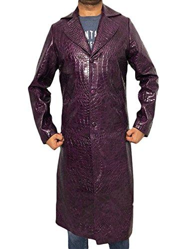 The Joker Suicide Squad Jared Leto Purple Coat – Halloween Kostüm - Violett - Mittel