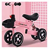 Rrunzfon 1 Año De Edad, Bebé, Motocicleta, Bebé, Bicicleta De Equilibrio, 1 A 6 Años, Niña, Niño, Bicicleta, Ruedas EVA, Sillín Ajustable Y Manillar, Absorción De Impactos-Pink Small Wheel