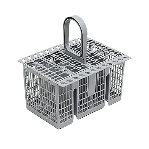 Binhe Cesta de cubiertos universal para lavavajillas, accesorio de repuesto, con tapa extraíble y asa