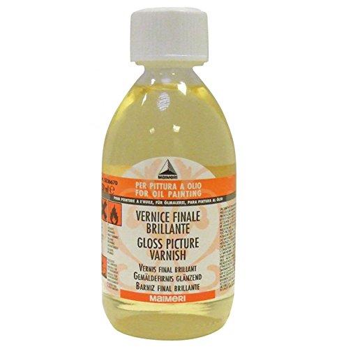 MAIMERI - 670 VERNICE FINALE BRILLANTE - 250 ml - AUSILIARI X COLORI A OLIO