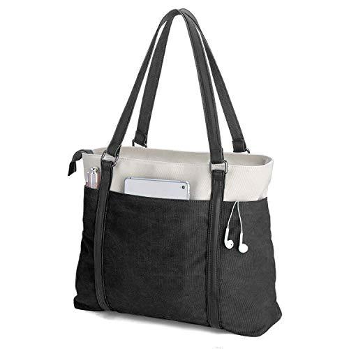Women Laptop Tote for Work Large Canvas Shoulder Handbag Purse Teacher Bags