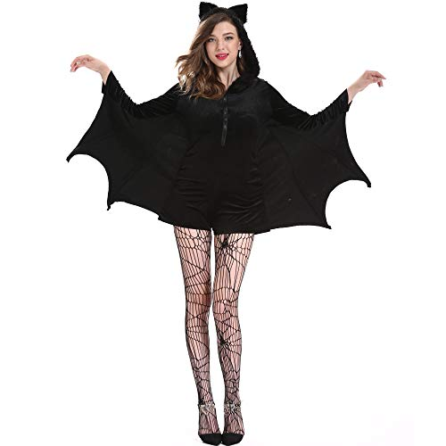 LYMCDP Halloween, Disfraz De MurciLago De Talla Grande, Disfraz De Cosplay Sexy, Disfraz De Vampiro Femenino De Batman