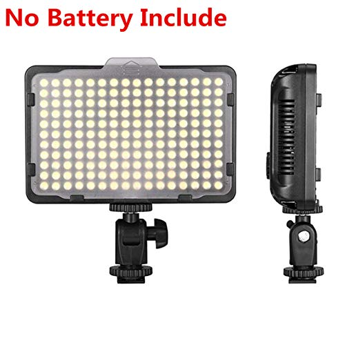 Digital SLR Camera Lighting - 176 Ultra Thin Dimmable Camera Photo/Studio Video LED Light Camcorder Lamp Panel with Color Filters for Nikon, Canon, Panasonic, Tripod, DSLR (NO Battery/NO AC Power)