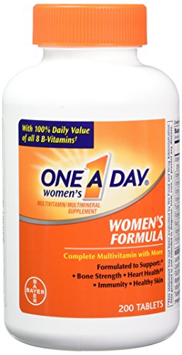 One A Day Women's Multivitamin, Supplement with Vitamin A, Vitamin C, Vitamin D, Vitamin E and Zinc for Immune Health Support*, B12, Biotin, Calcium & more, 200 count