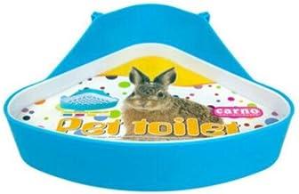 SunshineBio Potty Trainer Corner Litter Box Pet Toilet Hamster Guinea Pig Ferret Gerbil Chinchilla Small Animals (Blue)
