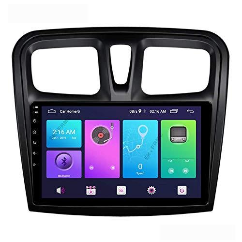 Android 10.0 Car Stereo Double Din para Renault Logan Sandero Duster 2015-2020 Navegación GPS Unidad principal de 9 pulgadas Pantalla táctil Reproductor multimedia MP5 Receptor de video y radio con 4