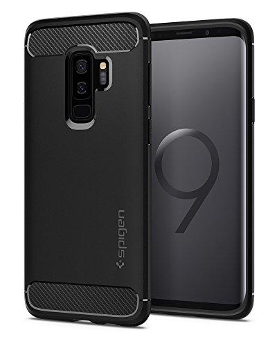 【Spigen】 Galaxy S9 Plus ケース [ SC-03K SCV39 ] 対応 TPU 米軍MIL規格取得 マット仕上げ ラギッド・アーマー 593CS22921 (マット・ブラック)
