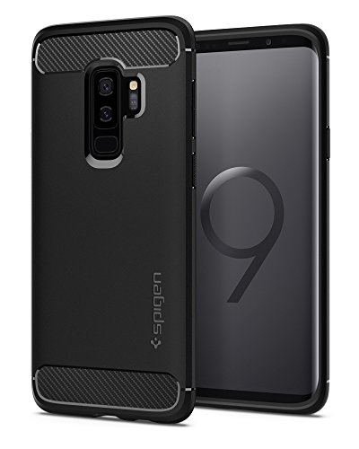 Spigen Rugged Armor Designed for Samsung Galaxy S9 Plus Case (2018) - Matte Black