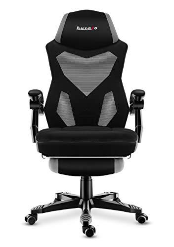 huzaro Grey Combat 3.0 Gaming Stuhl Bürostuhl Schreibtischstuhl Verstellbare Armlehnen Ergonomisches Design Fußstütze Grau, Standard
