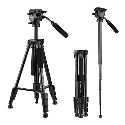 Andoer 65in Aluminum Alloy Video Camera Tripod Monopod, Compact Lightweight...