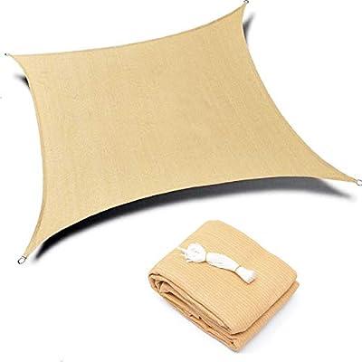 Kimdee Sun Shade sail (13'x16') Canopy UV Block for Outdoor Patio Garden Activity (Earthy Yellow)