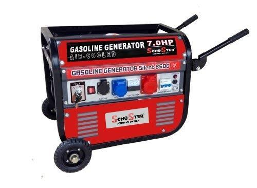 GrecoShop Gruppo elettrogeno/Generatore di Corrente 2800W - 220/380V avviamento Elettrico con Ruote