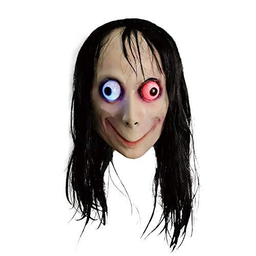 Costume da Momo Spaventoso, Costume da Mostro malvagio residente di Halloween (LED Momo)