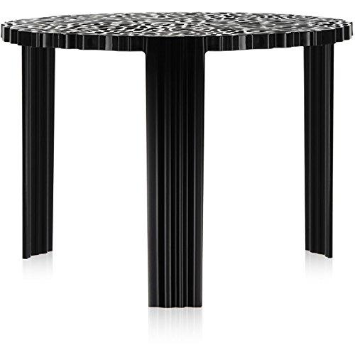 Kartell T-Table Tavolino, Nero, 50 x 50 x 36 cm