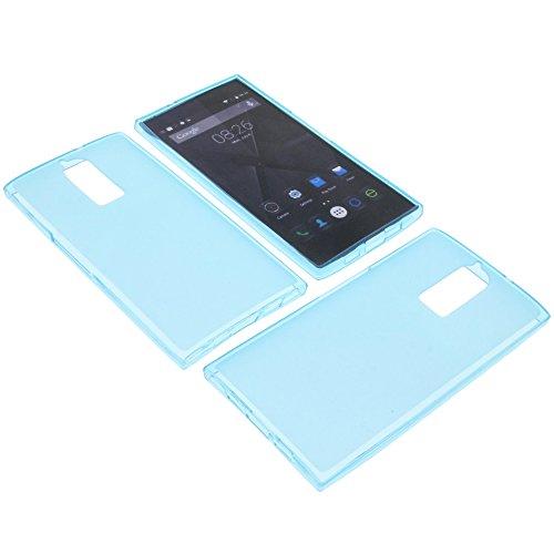 foto-kontor Tasche für Doogee F5 Gummi TPU Schutz Handytasche blau