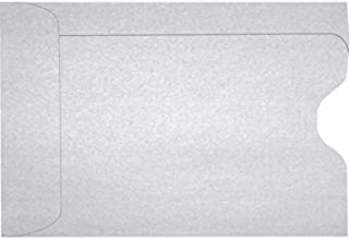 Credit Card Sleeve (2 3/8 x 3 1/2) - Silver Metallic (50 Qty.) | Perfect for The Holidays, Gift Cards, Credit Cards, Debit Cards, ID Cards and More! | 1801-06-50