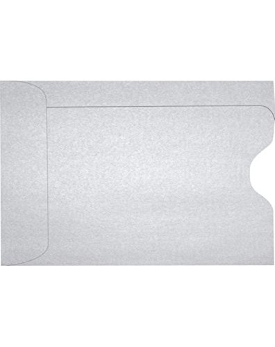 Credit Card Sleeve (2 3/8 x 3 1/2) - Silver Metallic (50 Qty.)   Perfect for The Holidays, Gift Cards, Credit Cards, Debit Cards, ID Cards and More!   1801-06-50