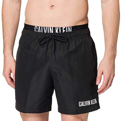 Calvin Klein Herren MEDIUM Double WB Badehose, Pvh Schwarz, S 7-9